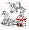 Bandits and hooligans - criminal nightlife vector image vector image
