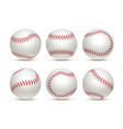 baseball ball isolated white icon softball set vector image