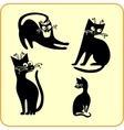 Black cats - set Vinyl-ready EPS vector image