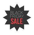 black friday sale round starburst sticker vector image