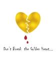Broke Heart Concept vector image vector image