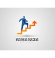 business logo design template success or progress vector image vector image