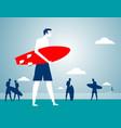 businessman beach holiday vector image