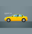 car economy vehicle side view vector image