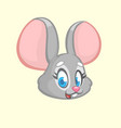cartoon funny mouse character vector image vector image