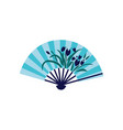 chinese folding fan with flowers icon flat cartoon vector image vector image
