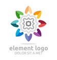 colorful elements lines design abstract vector image