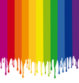 colorful stripes painting with drops vector image vector image