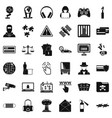 cyber icons set simple style vector image vector image