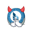 devil bitshares coin mascot cartoon vector image vector image