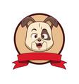 Dog head cartoon