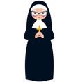 elderly catholic nun vector image