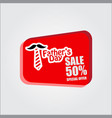 fathers day sale 50 special offer template design vector image vector image