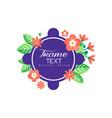 flourishes frame original design creative floral vector image vector image