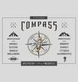 font compass craft retro vintage typeface design vector image vector image