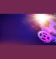 glowing flickering lights vector image