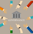 good corporate governance concept accountable vector image vector image