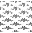 hand drawn hearts seamless pattern vector image vector image