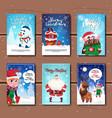 holiday celebration invitations design set vector image vector image