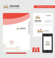 hospital bed business logo file cover visiting vector image vector image