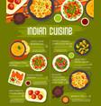 indian cuisine menu spice vegetable food