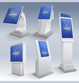 Information interactive kiosk displays