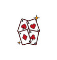 isolated casino cards fill design vector image vector image