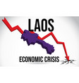 laos map financial crisis economic collapse vector image