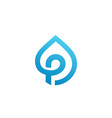 letter p water drop logo icon design template vector image vector image