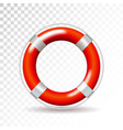 life buoy isolated on transparent background vector image
