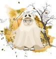 Little Ghost Halloween Background vector image vector image