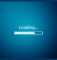 loading icon isolated on blue background vector image