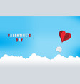 love and valentine dayorigami made red heart vector image vector image