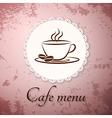 Menu applique card background vector image vector image