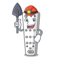 miner cartoon remote control from tv device vector image