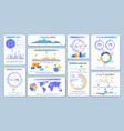 mobile marketing dashboard vector image