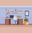 modern home office workplace cabinet empty no vector image