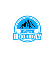 mountain holiday logo vector image vector image