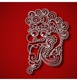 Mythological god s face Balinese tradition vector image vector image