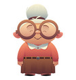 old lady nice grandmother with glasses smiles vector image