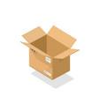 parcel open cartoon 3d vector image