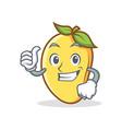 proud mango character cartoon mascot vector image vector image