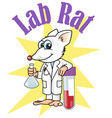 rat lab character cartoon vector vector image