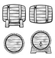 set barrel from different sides vector image