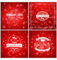 set of valentines day greeting cards or poster vector image vector image