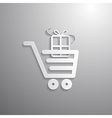 Shopping Cart Basket Symbol with Gift Box vector image vector image