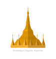 shwedagon pagoda in yangon myanma symbol icon vector image