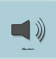speaker black and gray color on a blue background vector image vector image