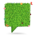 Speech bubble green grass texture background vector | Price: 1 Credit (USD $1)