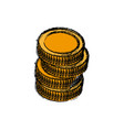 stack coins money currency icon vector image vector image